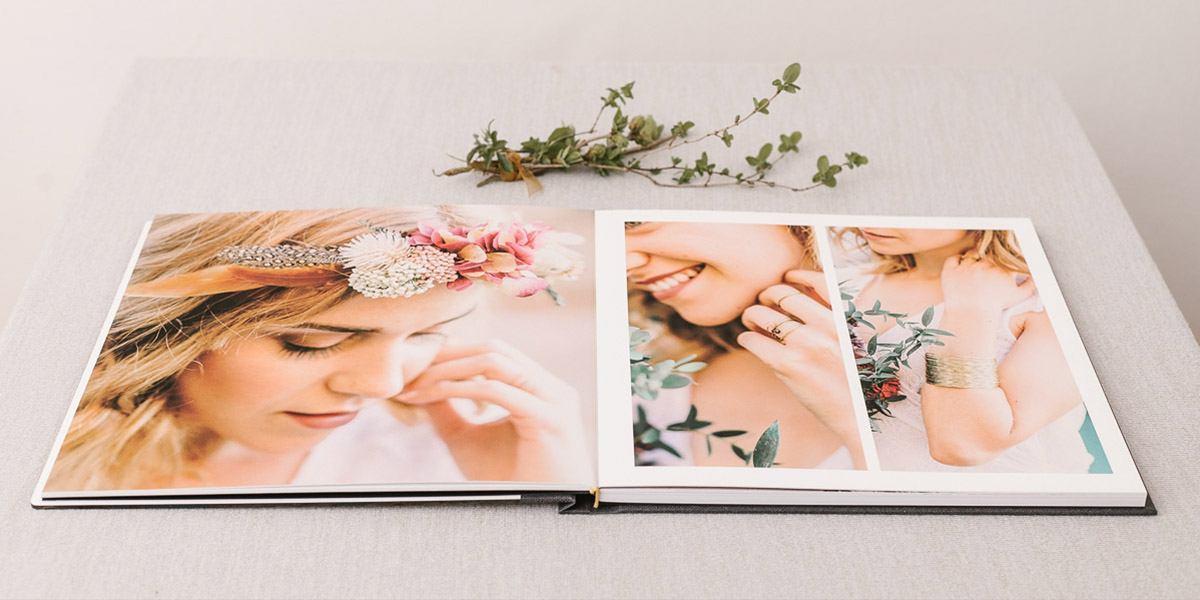 modernes Hochzeitsalbum von Fotograf auf Mallorca