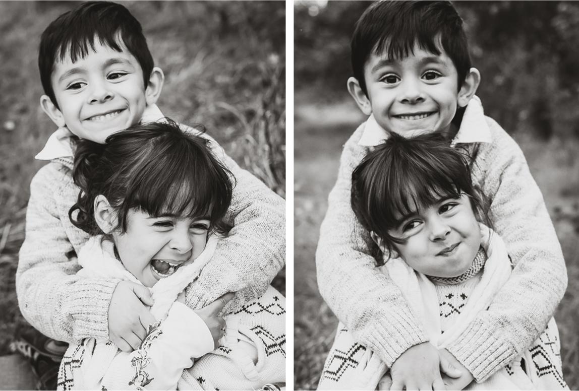 Palma Fotoshooting: zwei Geschwister beim Fotoshooting in Palma de Mallorca