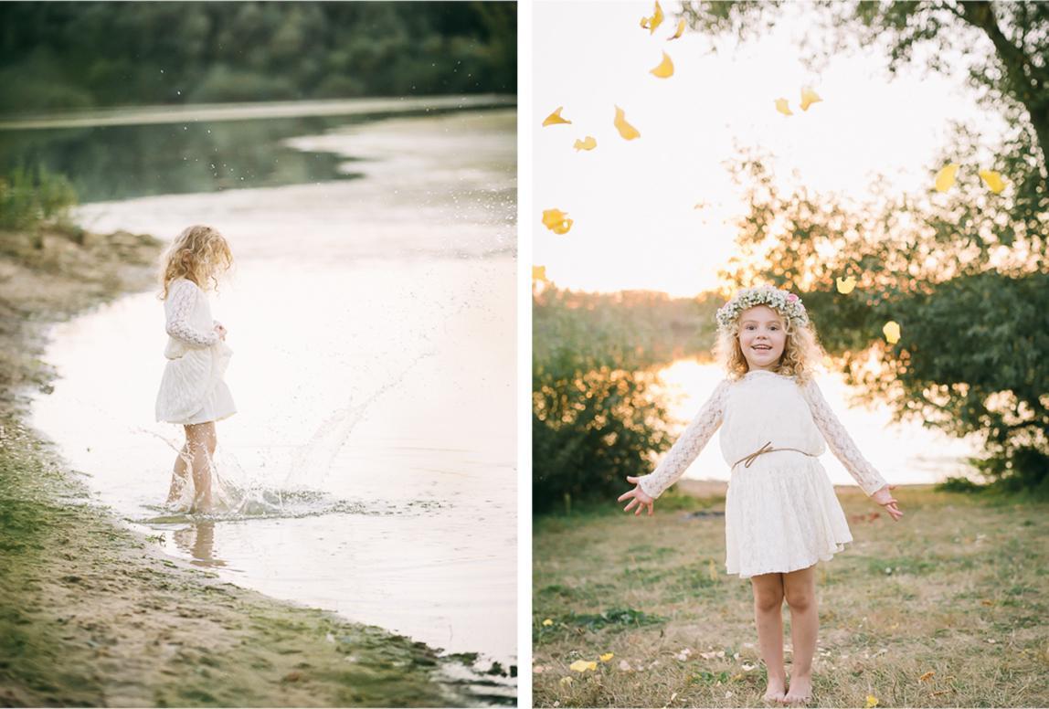 Alcudia Fotoshooting Familie: Mädchen spielt am Wasser