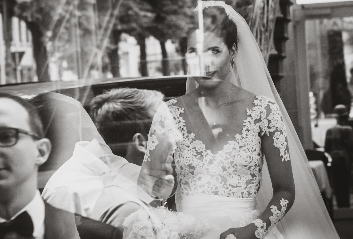 Mallorca Hochzeitsphotos - Braut beim First Look