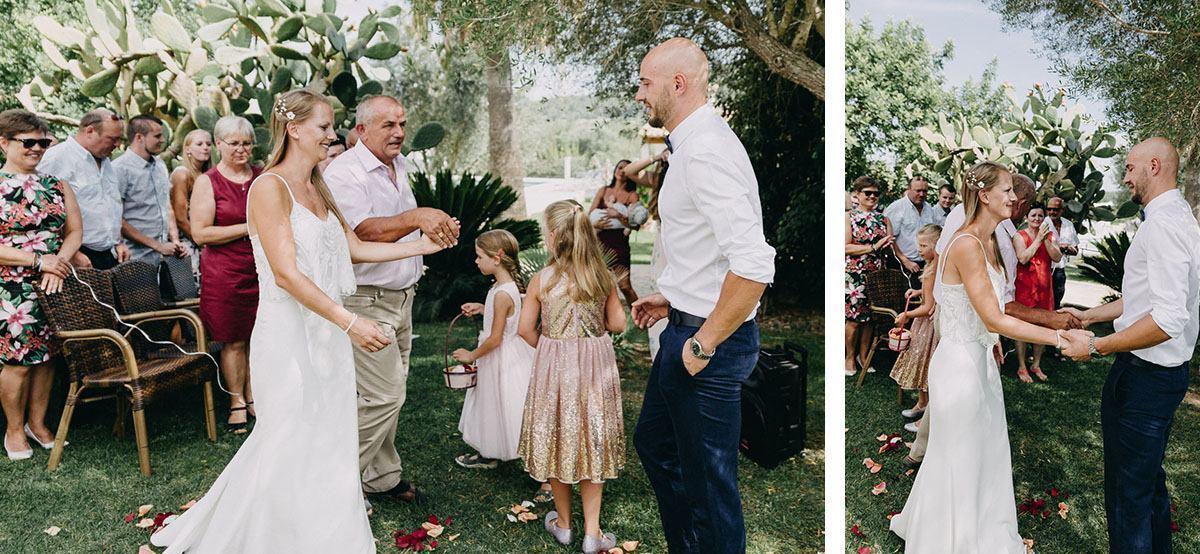 Mallorca Finca Hochzeit - Einzug der Braut