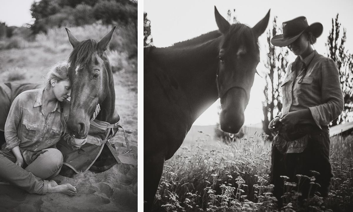 picture of photographer in Chile: Romany Flower together with her horse